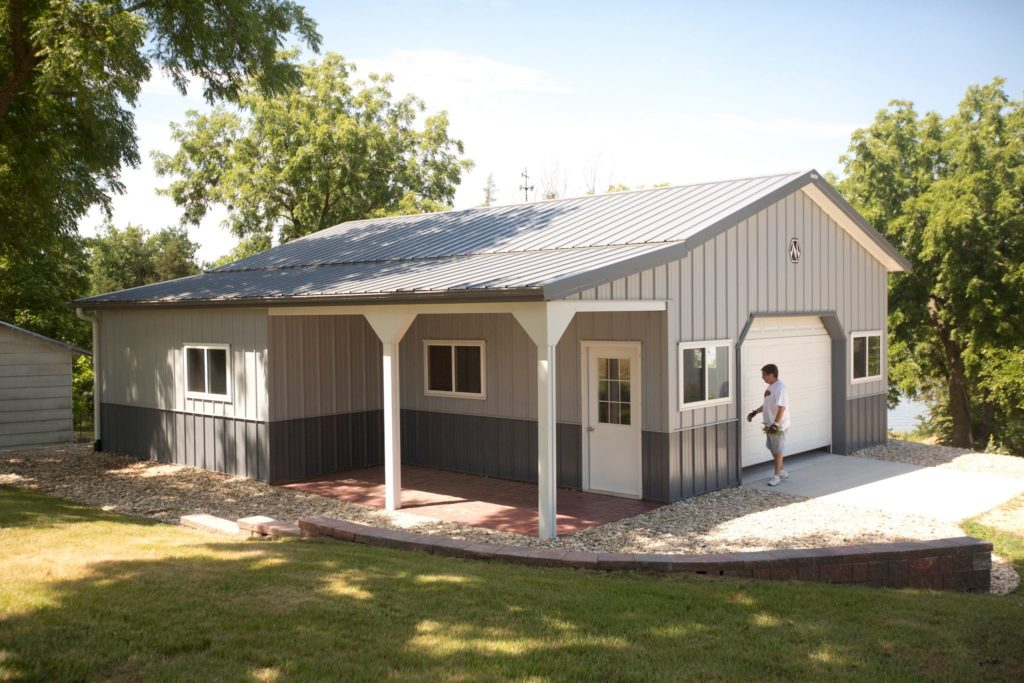 Morton buildings with living quarters price guide metal for A frame house cost